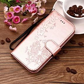 Недорогие Чехлы и кейсы для Huawei Honor-Кейс для Назначение Huawei Honor 9 / Huawei Honor 9 Lite / Honor 8 Кошелек / Бумажник для карт / со стендом Чехол одуванчик Твердый Кожа PU