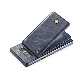 Недорогие Чехлы и кейсы для Galaxy Note 8-Кейс для Назначение SSamsung Galaxy Note 8 Кошелек / Бумажник для карт / со стендом Кейс на заднюю панель Однотонный Твердый Кожа PU