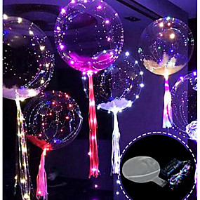 cheap Holiday & Party Decorations-3M 30LED Balloon with Led Strip Luminous Led Balloons for Wedding Decorations Birthday Party Christmas New Year