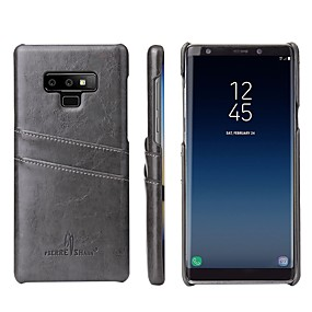 Недорогие Чехлы и кейсы для Galaxy Note 8-Кейс для Назначение SSamsung Galaxy Note 9 / Note 8 Бумажник для карт / Защита от удара Кейс на заднюю панель Мрамор Твердый Кожа PU