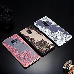 voordelige Galaxy S7 Edge Hoesjes / covers-hoesje Voor Samsung Galaxy S9 / S9 Plus / S8 Plus Mat / Doorzichtig / Reliëfopdruk Achterkant Lace Printing Hard Acryl