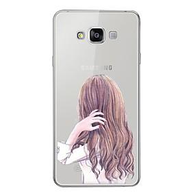 저렴한 Galaxy A3(2016) 케이스 / 커버-케이스 제품 Samsung Galaxy A5 (2017) / A7 (2017) / A7(2016) 패턴 뒷면 커버 섹시 레이디 소프트 TPU