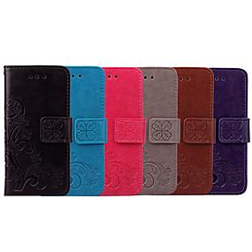 Недорогие Чехлы и кейсы для Huawei Honor-Кейс для Назначение Huawei Honor 8 Бумажник для карт / Флип Чехол Однотонный / Цветы Мягкий Кожа PU