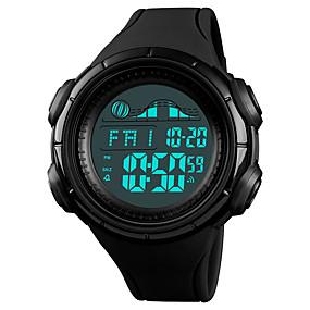 Недорогие Фирменные часы-SKMEI Муж. Спортивные часы Наручные часы электронные часы Цифровой На каждый день Защита от влаги Стеганная ПУ кожа Черный / Зеленый Цифровой - Черный Синий Зеленый Один год Срок службы батареи