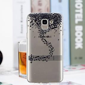 voordelige Galaxy J5(2017) Hoesjes / covers-hoesje Voor Samsung Galaxy J7 (2017) / J6 / J5 (2017) Transparant / Patroon Achterkant Woord / tekst Zacht TPU