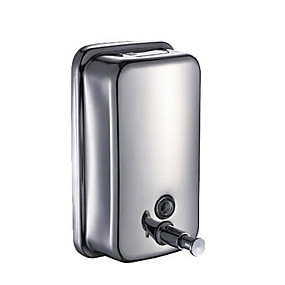 cheap Bathroom Gadgets-Wall Mounted Hand Sanitizer Machine Soap Dispenser Press Stainless steel 500 ml Building Entrance Necessary