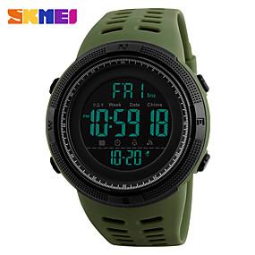 Недорогие Фирменные часы-SKMEI Муж. Наручные часы электронные часы Цифровой На каждый день Защита от влаги Стеганная ПУ кожа Цвет клевера Цифровой - Зеленый Один год Срок службы батареи / Японский / Будильник / Календарь