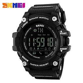 Недорогие Фирменные часы-SKMEI Муж. Жен. Спортивные часы электронные часы Цифровой силиконовый Черный / Красный 30 m Защита от влаги Bluetooth Календарь Цифровой На каждый день Мода - Черный Красный Синий / Секундомер