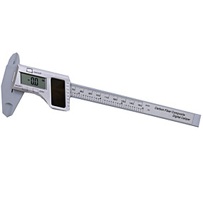 """رخيصةأون أجهزة القياس الرقمية & أجهزة قياس الذبذبات-الطاقة الشمسية رنيه الفرجار الرقمية 150 ملليمتر 6 """"بوصة من ألياف الكربون مركب الفرجار الرقمية مصغرة تلعب المجوهرات قياس hy33"""