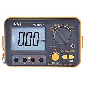 povoljno Digitalni multimetri i osciloskopi-vichy vici vc480c + digitalni multimetar multimetro mjerač dijagnostičkih alata 3 poluautomatski mjerač s pozadinskim osvjetljenjem od 4 ohma