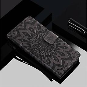 Недорогие Чехлы и кейсы для Huawei Honor-Кейс для Назначение Huawei Huawei Honor 10 / Honor 9 / Huawei Honor 9 Lite Кошелек / Бумажник для карт / со стендом Чехол Цветы Твердый Кожа PU