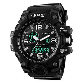 Недорогие Фирменные часы-SKMEI Муж. Жен. Спортивные часы электронные часы Цифровой На каждый день Защита от влаги силиконовый Черный Цифровой - Черный Красный Синий / Календарь / Секундомер / Фосфоресцирующий