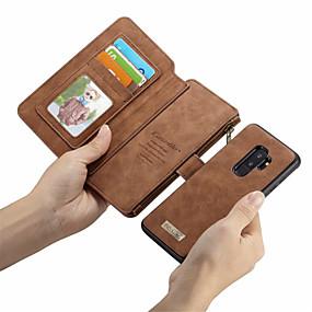 Недорогие Сортировать по модели телефона-CaseMe Кейс для Назначение SSamsung Galaxy S9 Plus / S9 Кошелек / Бумажник для карт / Флип Чехол Однотонный Твердый Кожа PU для S9 / S9 Plus / S8 Plus