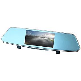 Недорогие Видеорегистраторы для авто-ziqiao xr805 full hd 1080p 5 дюймов ips ночного видения автомобильный видеорегистратор зеркальная камера видеорегистратор с двумя объективами регистратор