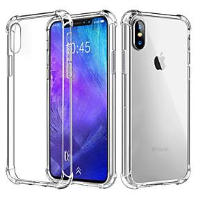 voordelige iPhone 11 Pro Max hoesjes-hoesje Voor Apple iPhone XS / iPhone XR / iPhone XS Max Schokbestendig / Transparant Achterkant Effen Zacht TPU