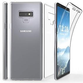 Недорогие Чехлы и кейсы для Galaxy Note 8-Кейс для Назначение SSamsung Galaxy Note 9 / Note 8 / Note 5 Прозрачный Чехол Однотонный Мягкий ТПУ
