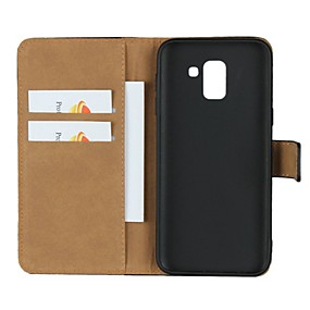cheap Galaxy J7(2017) Cases / Covers-Case For Samsung Galaxy J7 (2017) / J7 (2016) / J7 Wallet / Card Holder / with Stand Full Body Cases Solid Colored Hard Genuine Leather