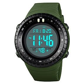 Недорогие Фирменные часы-SKMEI Муж. Для пары Наручные часы электронные часы Цифровой Стеганная ПУ кожа Черный / Красный / Зеленый 50 m Защита от влаги Календарь Хронометр Цифровой Аналого-цифровые На каждый день Мода -