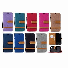 Недорогие Чехлы и кейсы для Huawei серии Y-Кейс для Назначение Huawei Mate 10 / Mate 9 / Y9 (2018)(Enjoy 8 Plus) Кошелек / Бумажник для карт / со стендом Чехол Однотонный Твердый текстильный