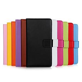 tanie Kupuj wg modelu telefonu-Kılıf Na Samsung Galaxy S9 / S9 Plus / S8 Plus Portfel / Etui na karty / Z podpórką Pełne etui Solidne kolory Twardość Prawdziwa skóra