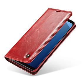 olcso Galaxy S4 tokok-CaseMe Case Kompatibilitás Samsung Galaxy S9 Plus / S9 Kártyatartó / Flip Héjtok Egyszínű Kemény PU bőr mert S9 / S9 Plus / S8 Plus