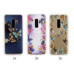 voordelige Galaxy J5(2017) Hoesjes / covers-hoesje Voor Samsung Galaxy J8 / J7 (2017) / J6 Ultradun / Transparant / Patroon Achterkant Vlinder Zacht TPU