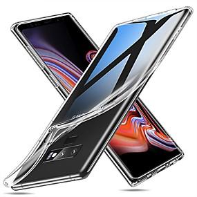 Недорогие Чехлы и кейсы для Galaxy Note 8-Кейс для Назначение SSamsung Galaxy Note 9 / Note 8 Ультратонкий / Прозрачный Кейс на заднюю панель Однотонный Мягкий ТПУ