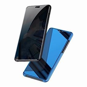 Недорогие Чехлы и кейсы для Huawei Mate-Кейс для Назначение Huawei Mate 10 / Mate 10 pro / Mate 10 lite Зеркальная поверхность / Флип Чехол Однотонный Твердый ПК