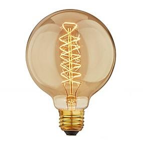 ieftine Becuri Incandescente-1 buc 40 W E26 / E27 G95 Alb Cald 2200-2700 k Retro / Intensitate Luminoasă Reglabilă / Decorativ Incandescent Vintage Edison bec 220-240 V