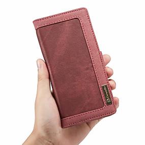 Недорогие Чехлы и кейсы для Galaxy Note 8-CaseMe Кейс для Назначение SSamsung Galaxy Note 9 Кошелек / Бумажник для карт / Флип Чехол Однотонный Твердый текстильный для Note 9 / Note 8