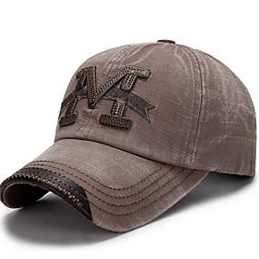 זול $3.99-ירוק צבא חום כחול נייבי כובע בייסבול דפוס פוליאסטר בסיסי בגדי ריקוד גברים
