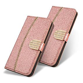 Недорогие Чехлы и кейсы для Galaxy Note 8-Кейс для Назначение SSamsung Galaxy Note 9 / Note 8 Кошелек / Бумажник для карт / со стендом Чехол Бабочка / Сияние и блеск / Стразы Твердый Кожа PU