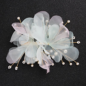 cheap Women's Accessories-Alloy Hair Clip / Hair Accessory with Faux Pearl 1 Piece Wedding / Special Occasion Headpiece