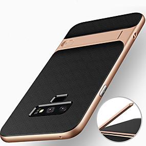Недорогие Чехлы и кейсы для Galaxy Note 8-Кейс для Назначение SSamsung Galaxy Note 9 / Note 8 Защита от удара / со стендом Кейс на заднюю панель броня Твердый ПК