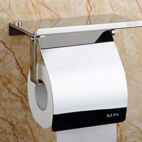 رخيصةأون أدوات الحمام-حاملة ورق التواليت تصميم جديد / كوول الحديث الفولاذ المقاوم للصدأ / الحديد 1PC حمالة ورق تواليت مثبت على الحائط