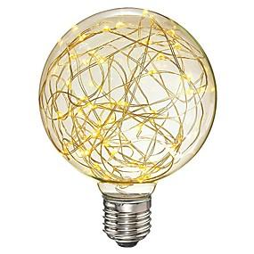 povoljno LED žarulje s nitima-1pc 3 W LED filament žarulje 200-300 lm E26 / E27 G95 33 LED zrnca SMD Ukrasno zvjezdani Toplo bijelo 85-265 V / RoHs