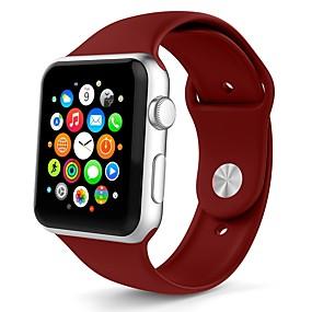 رخيصةأون ساعات ذكية-جل السيليكا حزام حزام إلى Apple Watch Series 4/3/2/1 الأبيض / البرتقال / رمادي 23CM / 9 بوصة 2.1cm / 0.83 Inches