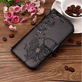 Недорогие Чехлы и кейсы для Huawei Honor-Кейс для Назначение Huawei Huawei Honor 10 / Honor 9 / Huawei Honor 9 Lite Бумажник для карт / Рельефный / С узором Чехол одуванчик Твердый Кожа PU