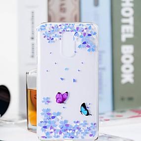 olcso Galaxy J5(2017) tokok-Case Kompatibilitás Samsung Galaxy J8 (2018) / J7 Duo / J7 (2017) Átlátszó / Minta Fekete tok Pillangó / Virág Puha TPU