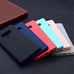 Недорогие Чехлы и кейсы для Galaxy Note 8-Кейс для Назначение SSamsung Galaxy Note 9 / Note 8 Матовое Кейс на заднюю панель Однотонный Мягкий ТПУ