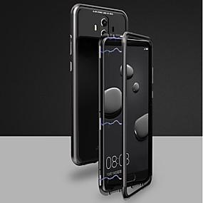 Недорогие Чехлы и кейсы для Huawei Mate-Кейс для Назначение Huawei Huawei Honor 10 / Mate 10 / Mate 10 pro Магнитный Чехол Однотонный Твердый Закаленное стекло