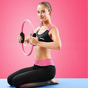 povoljno Tjelovježba i fitness-Pilates prsten 40 cm Prečnik EVA smole NBR Vlakno protiv klizanja Zadebljanje Izdržljivost Prijenosno Jača tonus mišića Poboljšava ravnotežu i držanje tijela Yoga Pilates Sposobnost Za Žene Struk