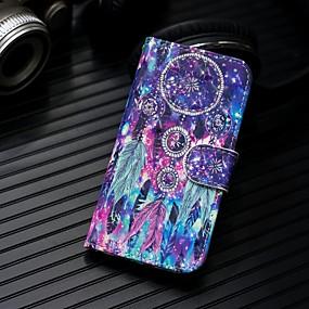 Недорогие Чехлы и кейсы для Galaxy Note 8-Кейс для Назначение SSamsung Galaxy Note 9 / Note 8 Кошелек / Бумажник для карт / со стендом Чехол Ловец снов Твердый Кожа PU