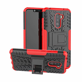 cheap Xiaomi-Case For Xiaomi Xiaomi Pocophone F1 with Stand Back Cover Armor Hard PC