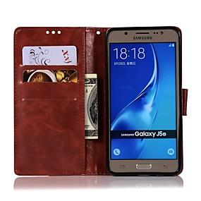 voordelige Galaxy J3 Hoesjes / covers-hoesje Voor Samsung Galaxy On7(2016) / On5(2016) / J7 Prime Portemonnee / Kaarthouder / met standaard Volledig hoesje Effen Hard PU-nahka
