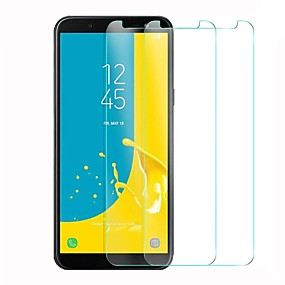 Недорогие Защитные пленки для Samsung-Samsung GalaxyScreen ProtectorJ6 HD Защитная пленка для экрана 1 ед. Закаленное стекло