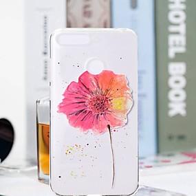Недорогие Чехлы и кейсы для Huawei Honor-Кейс для Назначение Huawei Huawei Honor 10 / Honor 9 / Huawei Honor 9 Lite Прозрачный / С узором Кейс на заднюю панель Цветы Мягкий ТПУ