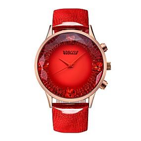 Недорогие Фирменные часы-BAOGELA Жен. Наручные часы Квадратные часы Японский кварц На каждый день Защита от влаги Натуральная кожа Синий / Красный Аналоговый - Красный Синий