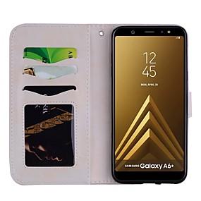 voordelige Galaxy A5(2016) Hoesjes / covers-hoesje Voor Samsung Galaxy A5(2018) / A6 (2018) / A6+ (2018) Patroon Volledig hoesje Effen / Hart Hard PU-nahka
