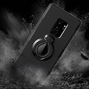 voordelige Galaxy S7 Hoesjes / covers-hoesje Voor Samsung Galaxy S9 / S9 Plus / S8 Plus Schokbestendig / met standaard / Ringhouder Achterkant Tegel / Schild Hard PC